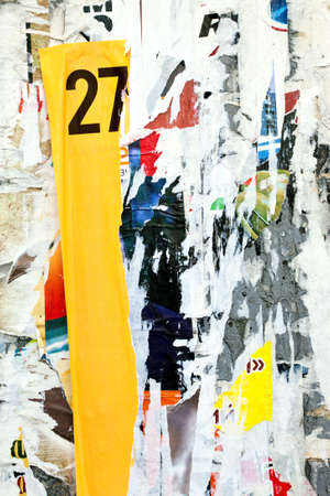abstract background from scraps of posters photo