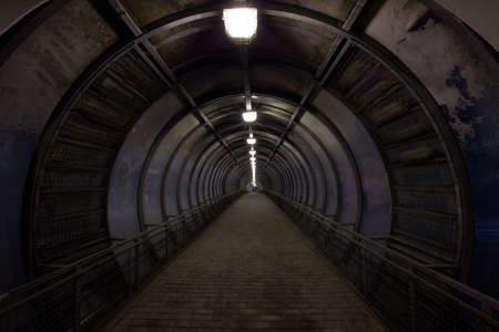 concentric dark tunnel with light