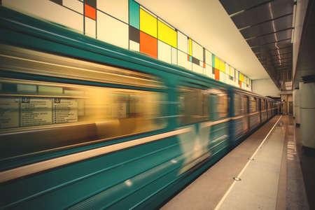 モスクワ - 2016 年 3 月 27 日: Rumiantsevo 地下鉄駅 2013 年 3 月 27 日の鉄道。新しい駅。以上 1200 万人の人口と世界の人気都市であります。モーション ブ