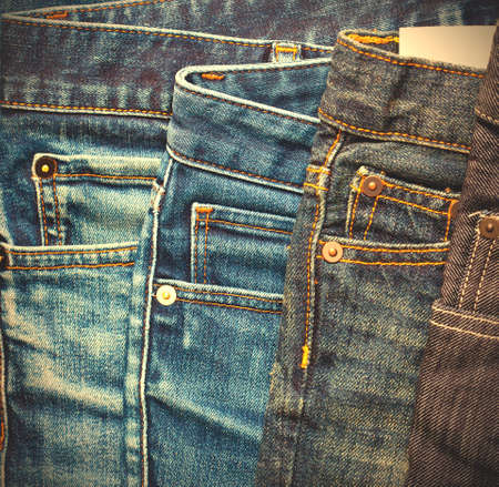 fashion aged jeans, close up. instagram image style