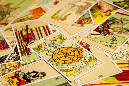 Tarot card Wheel of Fortune.