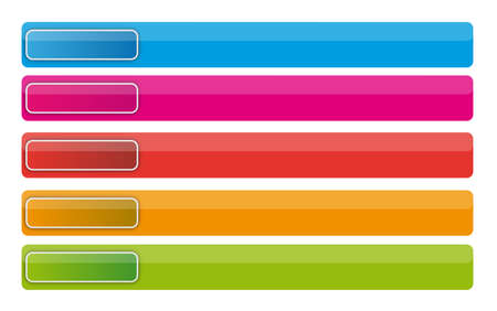 Banner buttons with web icons Stock Photo - 6006266