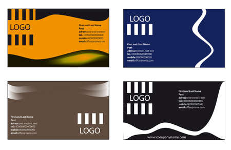 Vector collection 4 business cards templates Vector