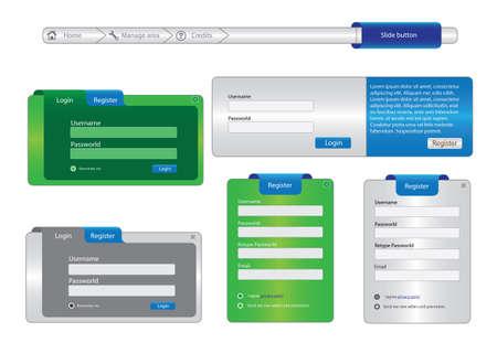 login icon: webdesign elements