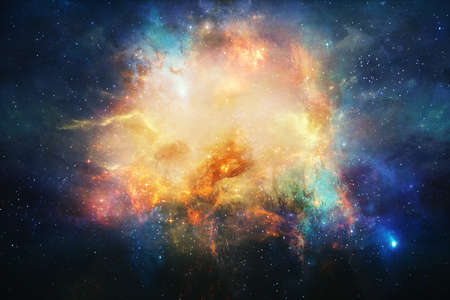 Beautiful nebula and bright stars in outer space, glowing mysterious universe.