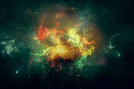 Abstract fractal nebula galaxy, digital artwork for creative graphic design