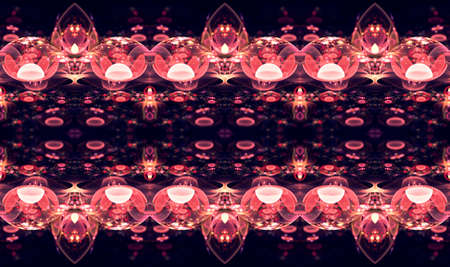 Abstract unique artistic glowing 3d computer generated endless fractals shapes patterns artwork background