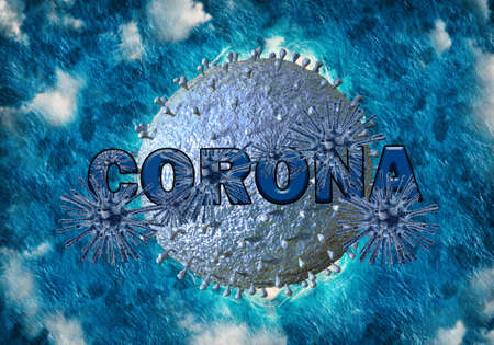 Abstract 3D medical illustration of the new Coronavirus COVID-19 infection disease.