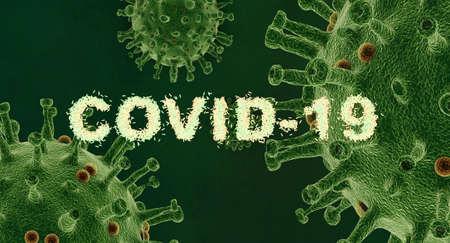 Abstract 3d rendering illustration of covid 19 coronavirus disease Zdjęcie Seryjne