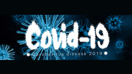 Abstract 3d rendering cinematic view illustration of covid 19 coronavirus inside a human.