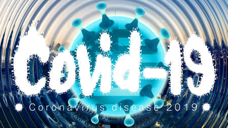 Abstract 3d rendering illustration of covid 19 disease outbreak in united states of america Zdjęcie Seryjne