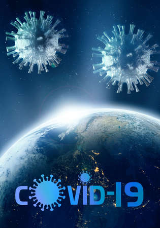 Abstract artistic 3d rendering illustration for Epidemic of the COVID-19 coronavirus Zdjęcie Seryjne
