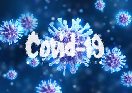Abstract 3d rendering illustration of a Coronavirus Virus Inside A Cell