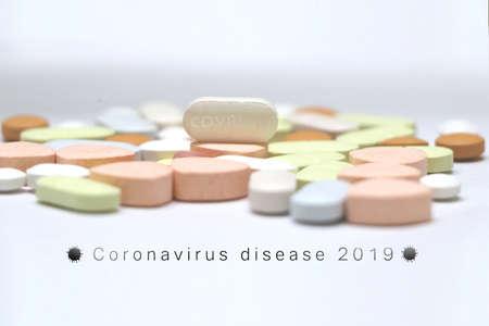 3d Rendering illustration of Covid 19 vaccine pills