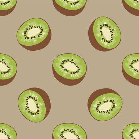 kiwi fruit: Seamless pattern with kiwi