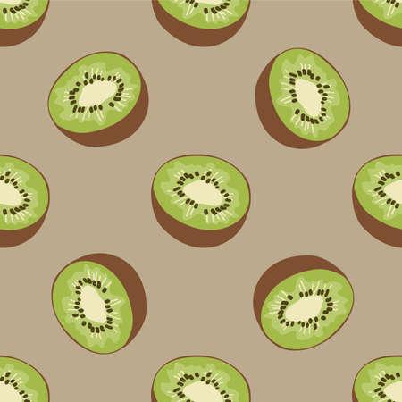kiwi: Seamless pattern with kiwi