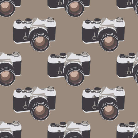 foto: Seamless pattern with vintage cameras