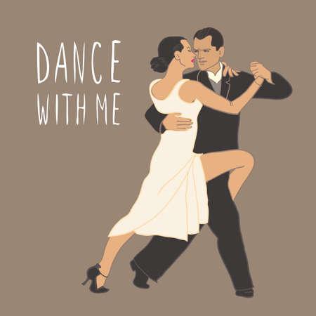 corazon: Tango. Dancing couple People isolated Dance class
