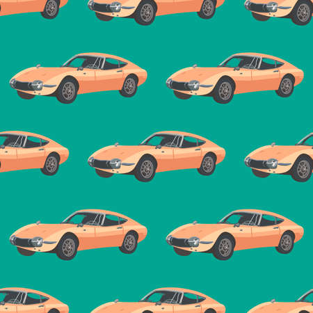 Retro car pattern, illustration