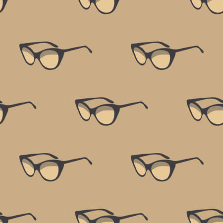 fashion glasses: Seamless pattern with retro sunglasses. Fashion background. Illustration