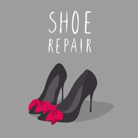 Shoe repair. Cartoon shoe vector isolated. Bootmaker