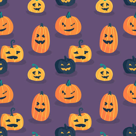 Halloween seamless pattern design with pumpkin  イラスト・ベクター素材