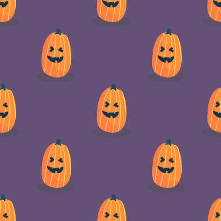 Vector holiday illustration for Day of the dead or Halloween. Funny fabric design. Halloween pattern with pumpkin. Pattern can be used for wallpaper, web page background, surface textures.