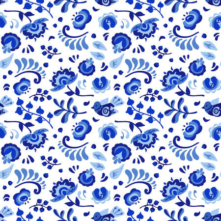 Vector floral watercolor texture pattern with blue flowers.Watercolor floral pattern.Blue flowers pattern. Illustration