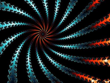 eyecatcher: Colored fractal spiral