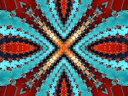 eyecatcher: Patterned fractal cross Stock Photo