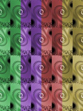 eyecatcher: Colored fractal background with spirals