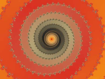 eyecatcher: Orange background with fractal spiral Stock Photo