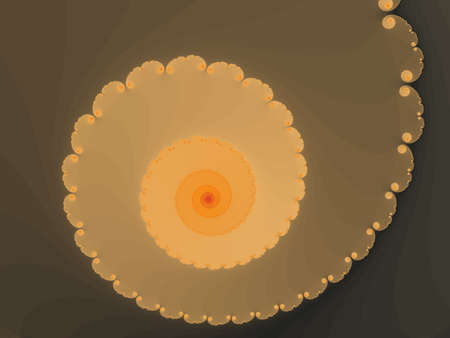 eyecatcher: Smoky yellow fractal spiral