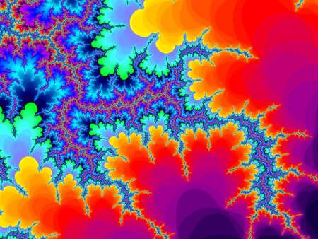 eyecatcher: Bright  multicolor fractal background