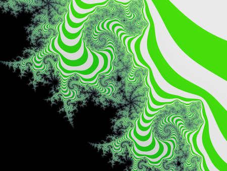 eyecatcher:  Graceful green striped fractal Stock Photo