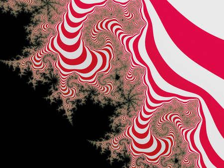 eyecatcher:  Graceful red striped fractal