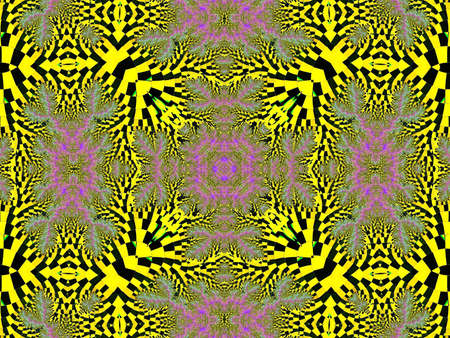 comp: Digital fractal backgroynd in yellow color Stock Photo