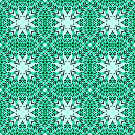 Green fractal seamless pattern Stock Photo