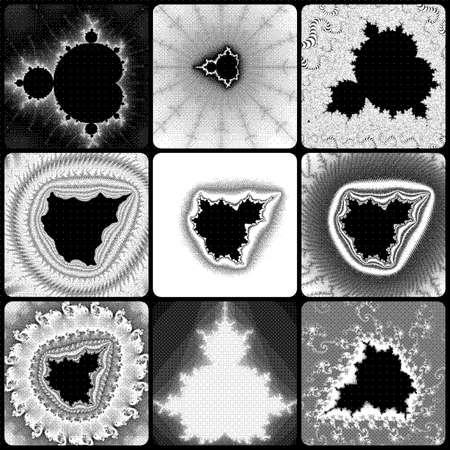 eyecatcher: Graphic Mandelbrot fractals Stock Photo