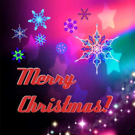 mirth: Postcard Merry Christmas Stock Photo