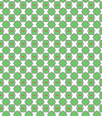 appealing: Seamless geometric pattern in a green colors Stock Photo