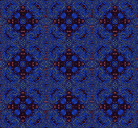 Seamless fractal pattern in a blue colors photo