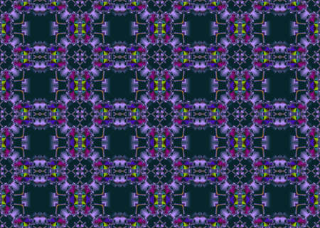 Seamless fractal pattern in a dark colors photo