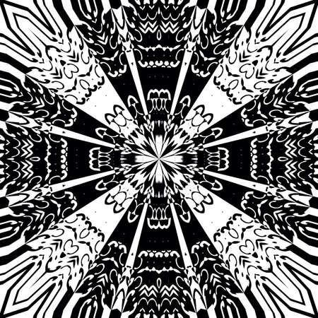 appealing: Decorative ornament in a black - white colors
