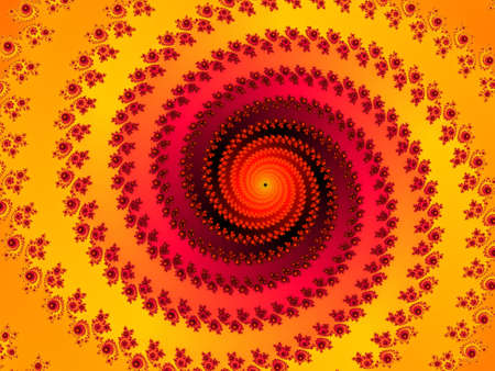 appealing: Decorative fractal spiral in a orange colors Stock Photo
