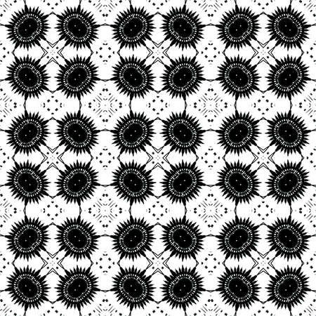 appealing: Black - white seamless pattern