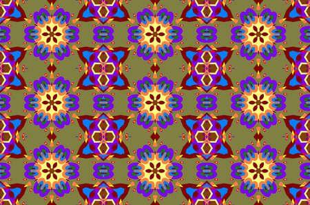 tempting: Geometric seamless pattern with a flowers