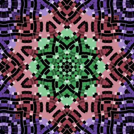 motley: Geometric pattern in a motley colors