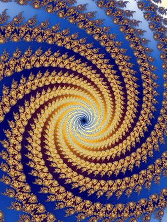 dynamically: Decorative fractal spiral Stock Photo