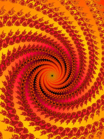 Decorative fractal spiral in a bright colors